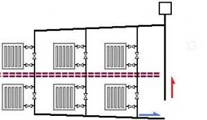Схема циркуляції теплоносія фото