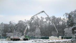 як бетонувати зимою