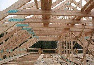 дерев'яна конструкція даху