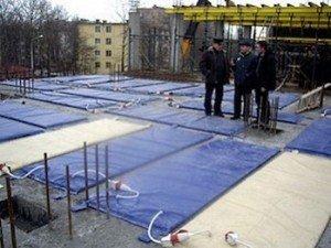бетонування методом термосу