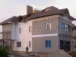 Утеплення будинку пінопластом фото