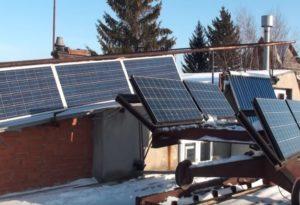сонячні батареї на даху