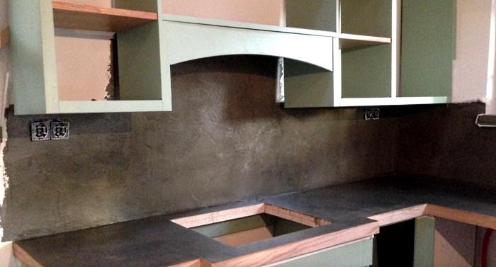 ідея фартуха з бетону фото